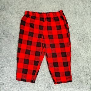 Red and black plaid pants girls size 9 months